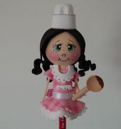 Bonecas da Tânia: Ponteiras para lápis (menina)