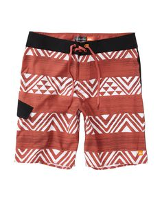 Mens Cute Surfing Shorts Summer Poster Sun and Palms Colorful Beach Shorts Swim