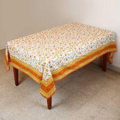 Primavera mantel Rectangular 152 X 228 indio decoraciones florales algodón: Amazon.es: Hogar