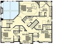 Love the laundry access ~ Plan Gorgeous Gabled Dream Home Plan Floor 2 Dream House Plans, House Floor Plans, My Dream Home, Dream Homes, Architectural Design House Plans, Architecture Design, I Love House, Ideal House, Garage Interior
