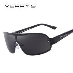 MERRY'S Men Classic Brand Sunglasses HD Polarized Glasses Men's Integrated Eyewear Sunglasses S'8616