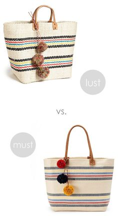 Look-alikes: Straw Tote - Ridgely's Radar I cant decide.. They are both great!