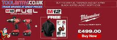 Tool Army special offer on Milwaukee with FREE heated jacket