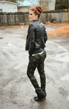 The Freckled Fox - a Hairstyle Blog: What I Wore // Rain, Camo, and a bit on Making Plans