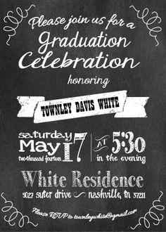 chalkboard grad invitation