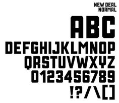 New deal typeface by Neville Brody