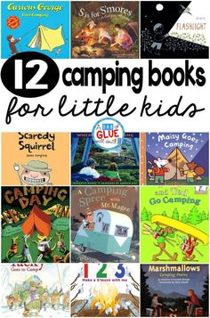 Are you going camping anytime soon with your kids? If so, here are 12 of my favorite camping books. Pick one or a few and jump right on in and help get your kiddos even more excited about their upcoming camping trip. Camping Books, Camping Bedarf, Camping Games, Camping Crafts, Camping With Kids, Camping Ideas, Camping Essentials, Camping Hammock, Camping Checklist