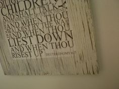 rustic wall scripture