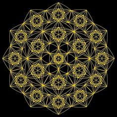 """Metatron's Cube Mandala"" by johnnet Framed Prints, Canvas Prints, Art Prints, Sacred Geometry Art, Geometric Tattoo Design, Graffiti Alphabet, String Art, Cube, Mandala"