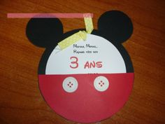3 years - Neve {L'invitation} Invitation mickey mouse party
