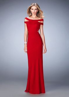 Red Strappy Off The Shoulder Side Cutouts Open Back Prom Dress