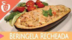 Berinjela recheada é um dos pratos para você comer a noite e não engordar