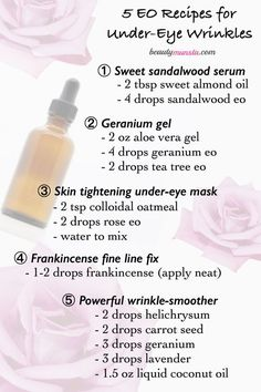 How to Use Essential Oils for Under Eye Wrinkles | 5 DIY Recipes!