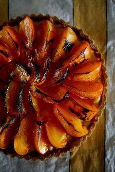 Steve Manfredi's persimmon custard tart.