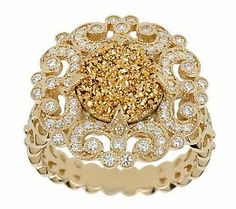 The buttery gold pave detail on this stunning ring is absolutely amazing.
