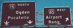 Utah - interstate 80 and interstate 15 sign. Trans Canada Highway, Slc, Street Signs, Salt Lake City, Utah, Nostalgia, California