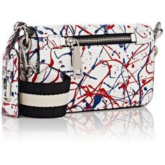 92c67468bf25a NWT Marc Jacobs SPECIAL EDITION Splatter Paint Leather Cross Body Bag -  White Marc Jacobs Purse