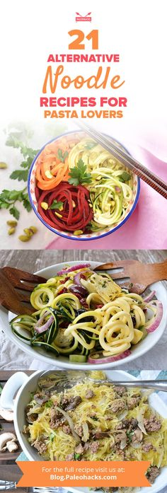 Addicted to pasta? Try one of these veggie-inspired noodle recipes for a healthy cure to your craving! Get all recipes here: http://paleo.co/noodlercps