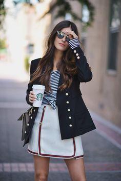 Wearing: Storets blazer   Storets skirt   Saks Mules   Vintage sunglasses   Chloe Faye
