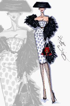 Hayden Williams Fashion Illustrations: 'Who's That Lady?' by Hayden Williams Hayden Williams, Fashion Illustration Sketches, Illustration Mode, Fashion Design Sketches, Vintage Magazine, Fashion Artwork, Fashion Drawings, Fashion Figures, Moda Fashion