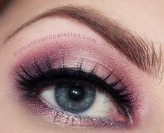 www.pigmentsandpalettes.com A romantic, dreamy look that's perfect for Valentine's Day!