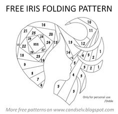 Free Iris Paper Folding Patterns | Free+Iris+Folding+Templates | Iris Fold Heart
