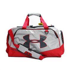 Under Armour Storm Undeniable Tough Medium Duffel Bag Gray Red 1263967-064   Underarmour   b46834c9e37e6