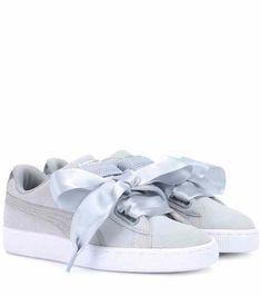 timeless design 5c06a 8e866 Basket Heart suede sneakers   Puma Puma Sneakers, Bow Sneakers, Suede  Sneakers, Suede