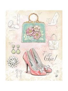 Art Print: Chic in Vintage by Chad Barrett : Vintage Art Prints, Vintage Posters, Chad Barrett, Fashion Art, Vintage Fashion, Fashion Images, Etiquette Vintage, Images Vintage, Decoupage Paper