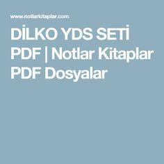 DİLKO YDS SETİ PDF | Notlar Kitaplar PDF Dosyalar