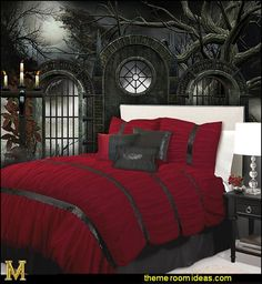 Gothic Bedroom Decorating Ideas - Gothic wall murals