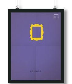 Pôster/Quadro minimalista  Friends