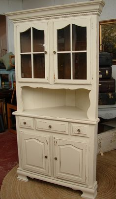 Impressive Corner Hutch Cabinet with Vintage Cabinet Design also Cathedral Cabinet Doors Style and Partial Overlay Cabinet Doors from Cabinet Decor Accents