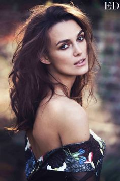 erdem #dress x tousled #hairstyle :: Keira Knightley for Net-A-Porter's The Edit