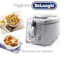 Friggitrice De Longhi:http://www.qbric.it/piccoli-elettrodomestici/cucina/friggitrici/f28533.html - cestello rotante estraibile - vasca antiaderente estraibile  - timer #cibo #cucina #elettrodomestici #gusto