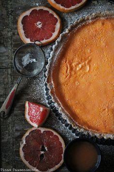 Salty Macadamia Grapefruit Tarte