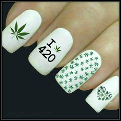 Nail Decal Marijuana Nail Art
