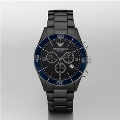 fae92c35e2f EMPORIO ARMANI AR1429 Mens Black Ceramics Watch Armani Watches For Men