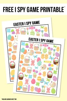 The perfect way to entertain the kids this Easter!  This sweet Easter I Spy Printable comes with an answer sheet and answer key too!  Print yours at livelaughrowe.com