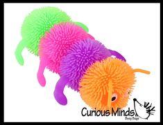 Caterpillar Toys, Sensory Toys, Bugs, Dinosaur Stuffed Animal, Shapes, Animals, Color, Animales, Animaux