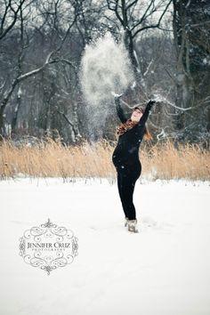 Maternity Photos Winter ~ Beautiful Mother New Jersey Snow