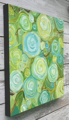 Large Abstract Painting - Summer Roses (24x24) Original. $249.00, via Etsy.
