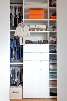 This is one organized baby nursery closet!