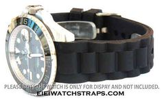 High Grade Silicon Rubber Oyster Pattern With Curved Lugs Fits Rolex
