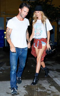 Adam Levine & Behati Prinsloo from The Big Picture: Today's Hot Pics | E! Online