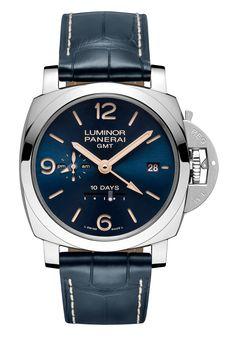 Panerai Luminor 1950 10 Days GMT Automatic Acciaio - blue dial