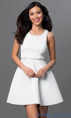 Sleeveless Dress with Embellished Neckline