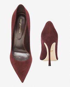 dfeb8562a40 Sergio Rossi Godiva Pointy Toe Suede Pump  Crimson  SergioRossi Sergio  Rossi Shoes