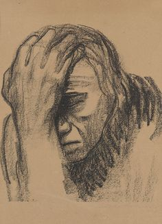 Käthe Kollwitz - Nachdenkende Frau (reflecting woman)