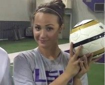 LSU women's soccer player Mo Isom is trying out for the football team